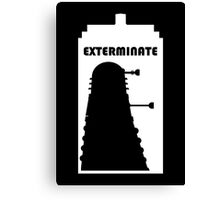 Dalek within Tardis (white) Canvas Print