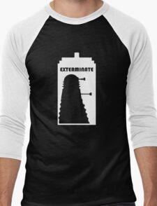 Dalek within Tardis (white) Men's Baseball ¾ T-Shirt