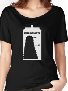Dalek within Tardis (white) Women's Relaxed Fit T-Shirt