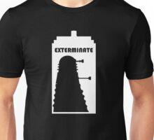 Dalek within Tardis (white) Unisex T-Shirt