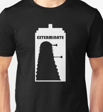 Dalek within Tardis (white) Unisex T-Shirt