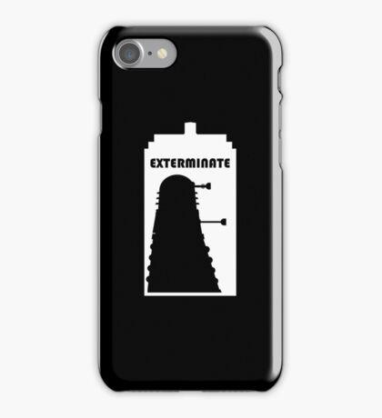 Dalek within Tardis (white) iPhone Case/Skin