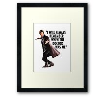 Doctor Who - 11th Doctor Quote Framed Print
