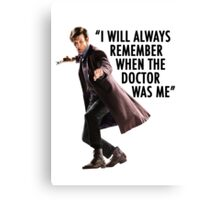 Doctor Who - 11th Doctor Quote Canvas Print