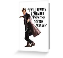 Doctor Who - 11th Doctor Quote Greeting Card