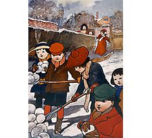 Preparing for the snow-ball fight Photographic Print