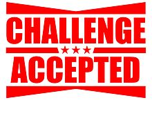 Challenge Accepted Text Logo Design by Style-O-Mat