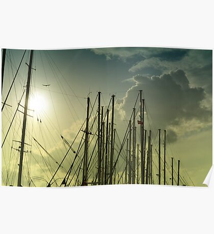 boat masts Poster