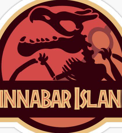 Cinnabar Island - Pokemon/Jurassic Park Crossover Sticker