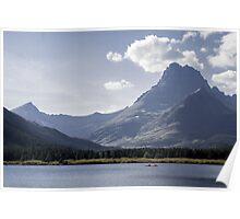 Kayakers, Glacier National Park Poster