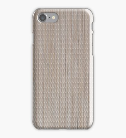 Beige vinyl texture iPhone Case/Skin