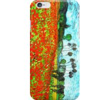 Vincent Poppies Field On The Phone iPhone Case/Skin