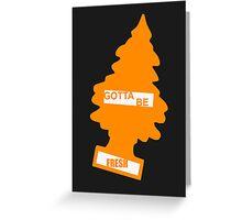 Fresh (Rad Orange) Greeting Card