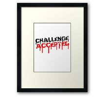 Challenge Accepted Graffiti Framed Print