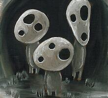 White Kodama Trio by Katie Clark