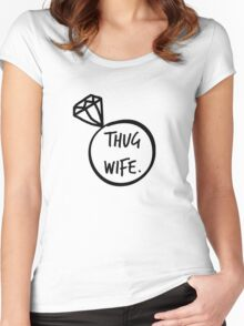 Thug Wife ring Women's Fitted Scoop T-Shirt
