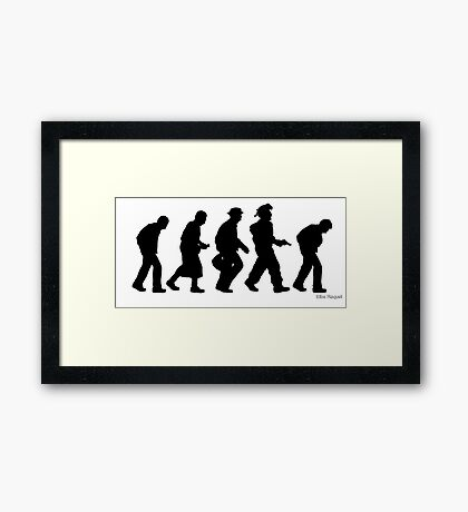 The Evolution of Walter White- Silhouette Framed Print