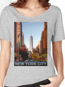 New York City freedom tower Women's Relaxed Fit T-Shirt