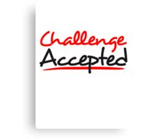 Challenge Accepted Comic Design Canvas Print