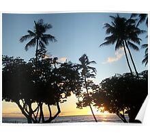 Aloha, Hawaiian Sunset Poster