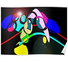 Abstract 55 Twisted Bubble Spotlight Poster
