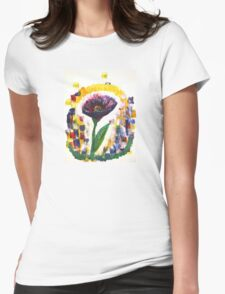 just flower Womens Fitted T-Shirt