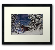 Red Heather Framed Print