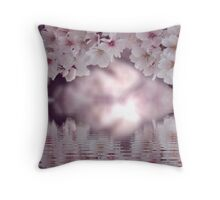 An arch of cherry blossoms Throw Pillow