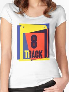 Pop Art 8 Track Tape Women's Fitted Scoop T-Shirt