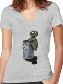 Grouchy Women's Fitted V-Neck T-Shirt