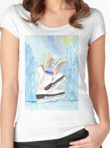 Glacier Skating Fairy Women's Fitted Scoop T-Shirt