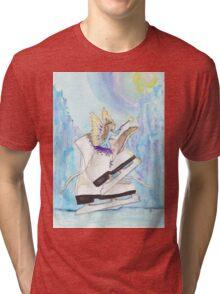 Glacier Skating Fairy Tri-blend T-Shirt