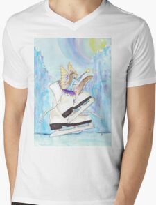 Glacier Skating Fairy Mens V-Neck T-Shirt