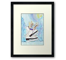 Glacier Skating Fairy Framed Print