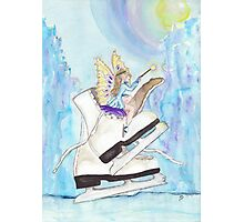 Glacier Skating Fairy Photographic Print