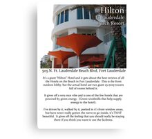 """Fort La Tee Dah """"The Hilton"""" Canvas Print"""