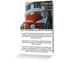 "Fort La Tee Dah ""The Hilton"" Greeting Card"