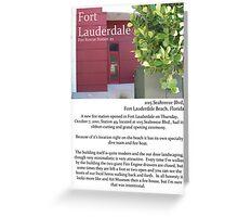 "Fort La Tee Dah ""The Beach Firehouse"" Greeting Card"