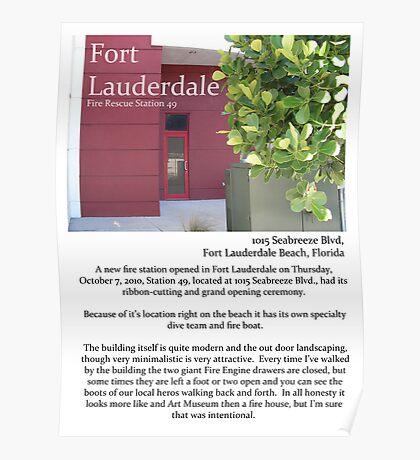 "Fort La Tee Dah ""The Beach Firehouse"" Poster"
