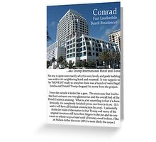 "Fort La Tee Dah ""The Conrad"" Greeting Card"