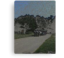 Carraige-Colored Pencil Canvas Print