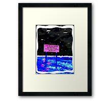 Sign Framed Print