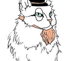 Gentleman Cat In a Bowler Hat by samgonmad
