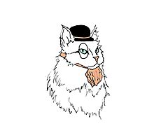 Gentleman Cat In a Bowler Hat Photographic Print