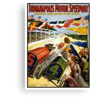 Indianapolis Motor Speedway 1909 Poster Canvas Print