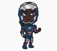IM3 - Rhodey as Iron Patriot Chibi by Zphal
