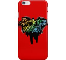 """art is the weapon""-MCR quote iPhone Case/Skin"