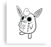 Wigglytuff de los Muertos   Pokemon & Day of The Dead Mashup Canvas Print