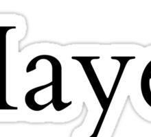 Mrs. Hayes Grier Sticker
