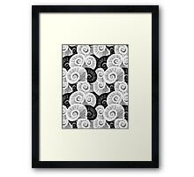graphic pattern of shells  Framed Print